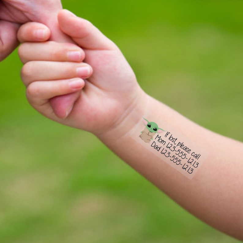 25. TempToo - The Child Safety Temporary Emergency Contact Tattoos