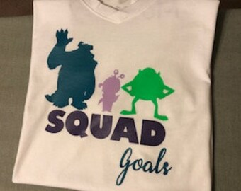 7dc5a3f08 Monter's Inc Squad Goals Baby Shower Shirt