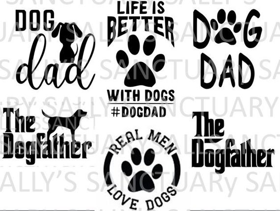 Free Father's day is celebrated on the third sunday in june. Dog Dad Father S Day Bundle Svg For Cricut Silhouette Etsy SVG, PNG, EPS, DXF File