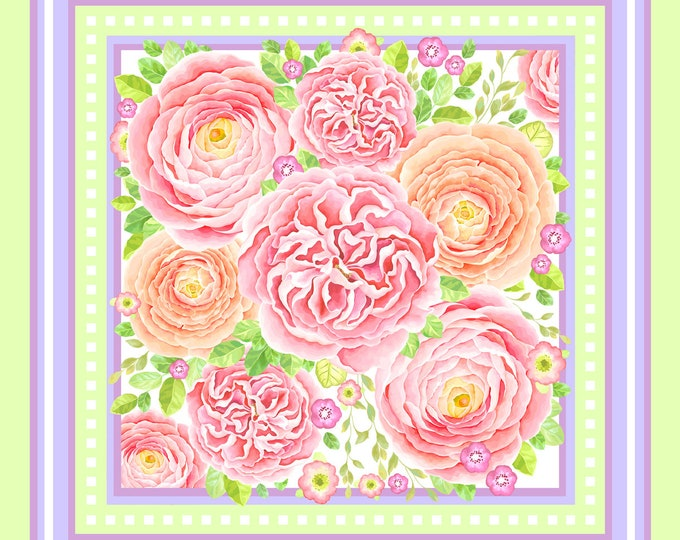 Spring - pink white small square silk neck scarf, neckerchief bag scarf, floral scarves