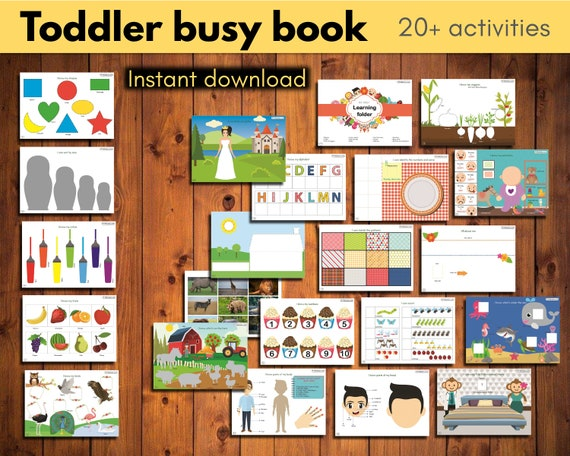 Toddler busy book  The mega Digital Bundle with 20