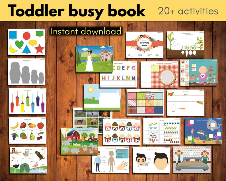 Toddler busy book  The mega Digital Bundle with 20 image 0