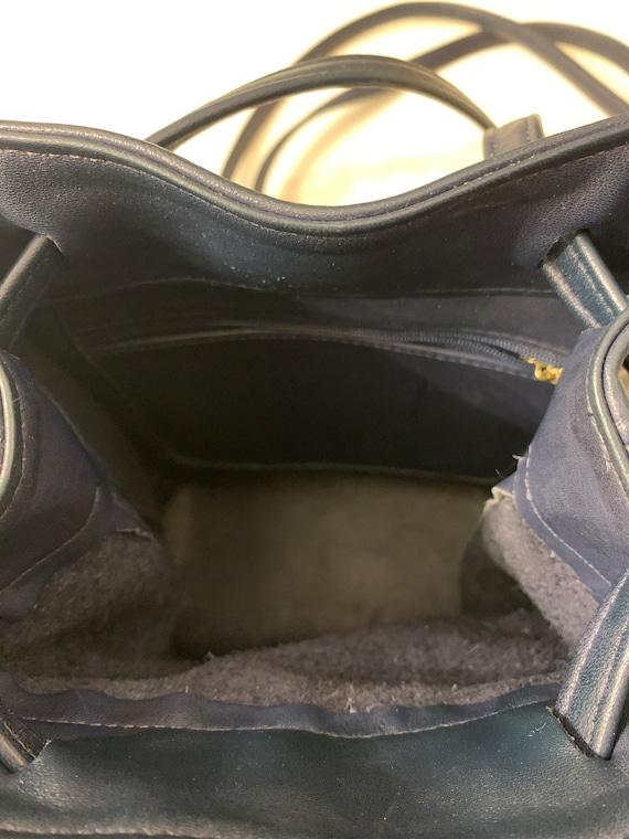 Vintage Coach Navy sling/ backpack serial 4162 Bag - image 10