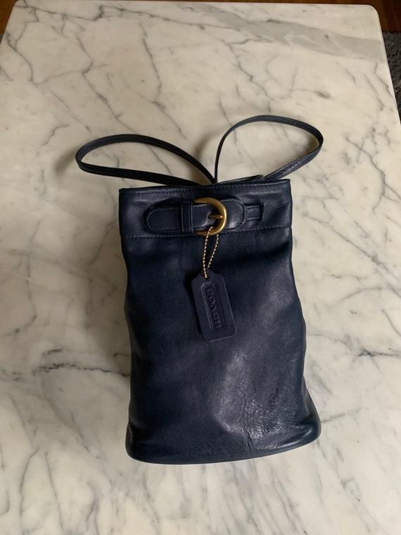 Vintage Coach Navy sling/ backpack serial 4162 Bag - image 5