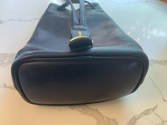Vintage Coach Navy sling/ backpack serial 4162 Bag - image 8