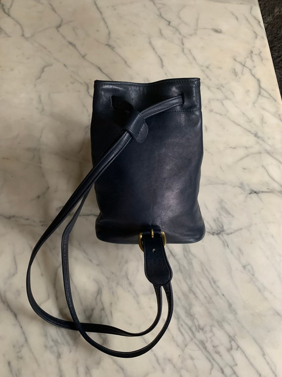 Vintage Coach Navy sling/ backpack serial 4162 Bag - image 2