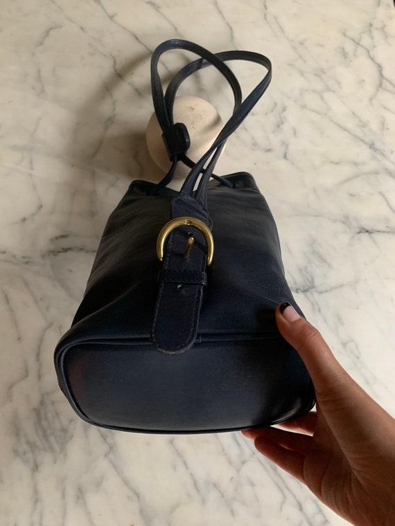 Vintage Coach Navy sling/ backpack serial 4162 Bag - image 4
