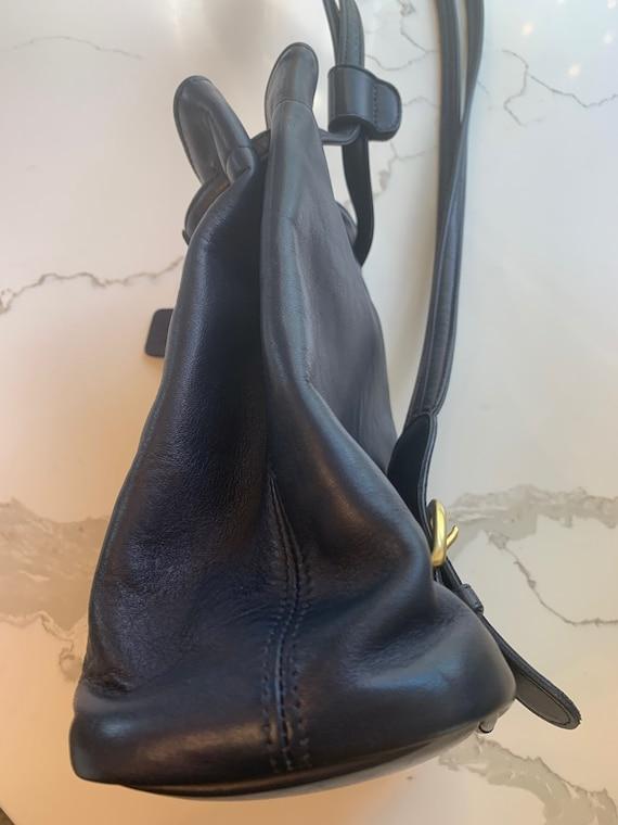 Vintage Coach Navy sling/ backpack serial 4162 Bag - image 6