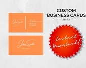 Business Cards, Personalized Business Cards, Printable Cards, Digital Files