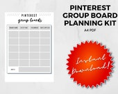 Pinterest Group Boards Worksheet | A4 | PDF | Printable