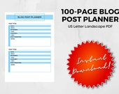 100-Page Blog Post Planner
