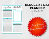 Blogger's Day Planner | A4 | PDF | US Letter PDF Fillable