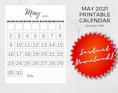 May 2021 Printable Calendar | US Letter