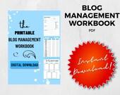 Blog Workbook, Printable Blog Workbook, Blog Organization, Business, Calendars, Printable Blog Planner