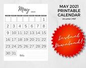 May 2021 Printable Calendar   US Letter