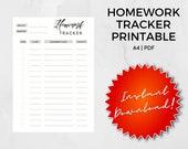 Printable Homework Tracker Assignment Planner Download