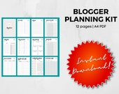 Blog Planner, Printable Blog Planner, Blogging Kit, Blog Worksheets, Social Media, Finances