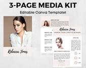 3 Page Media Kit Template   Canva Template   Media Press Template   Blogger Media Kit   Influencer Template