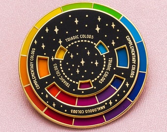 PREORDER Color Wheel Enamel Pin (Black)