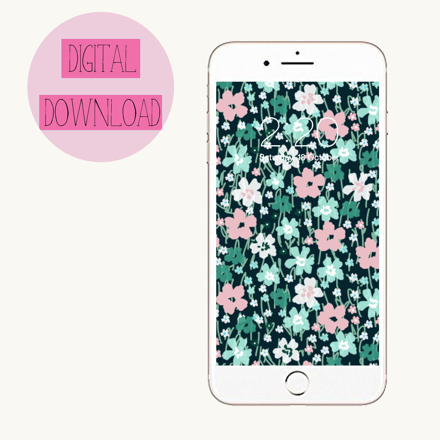 Floral Phone Wallpaper Etsy