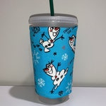 Olaf Insulated Iced Coffee Cozy, Hot Coffee Cozy, Cozy, Cup Sleeve