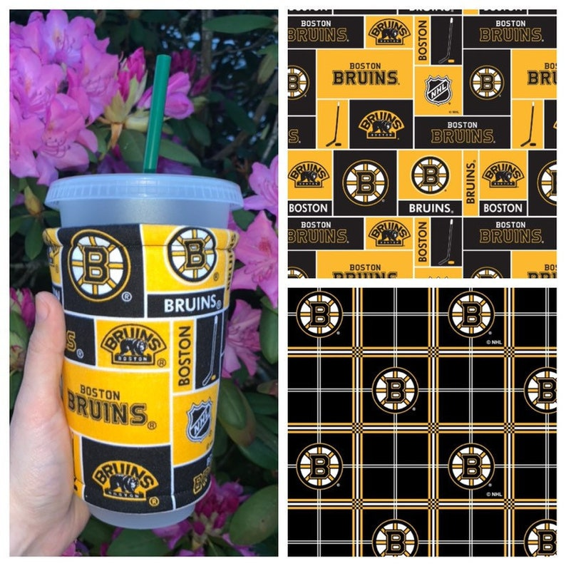 Boston Bruins Iced Coffee Cozy Insulated Can Cozy image 0
