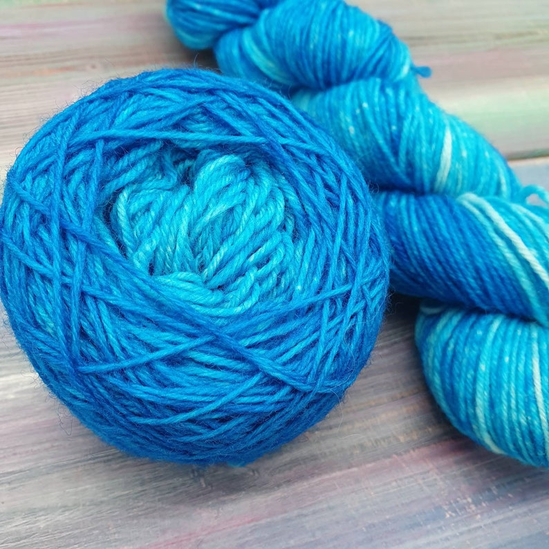 sock yarn set Hand-dyed sock yarn gradient blue Turquoise