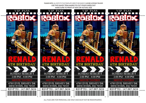 Roblox Birthday Invitation Roblox Invitation Roblox Partyroblox Inviteroblox Printable Template Roblox Game Invitation Instant Download - how to change ur birthday on roblox
