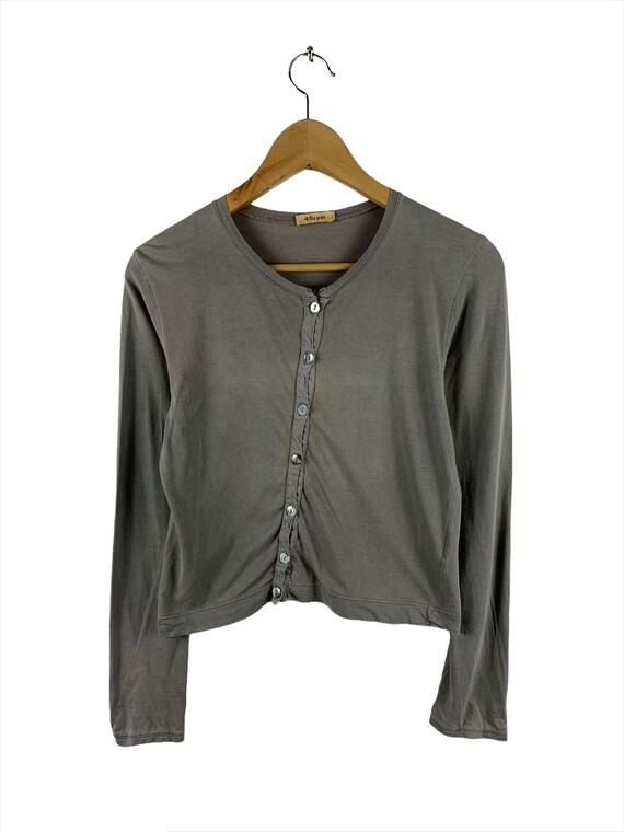Rare!!! 45RPM Button Ups Women Cardigan Italy