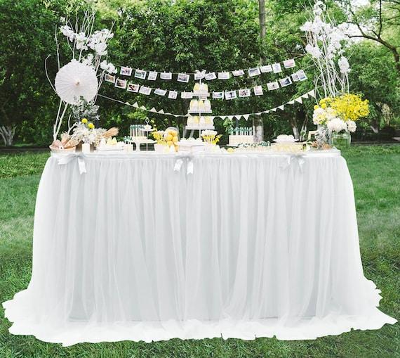Tulle Tutu Table Skirt Tableskirt Wedding Birthday Christmas Party Tableware 6ft