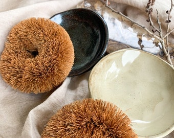 Handmade Coconut Scourer Ceramic Dish