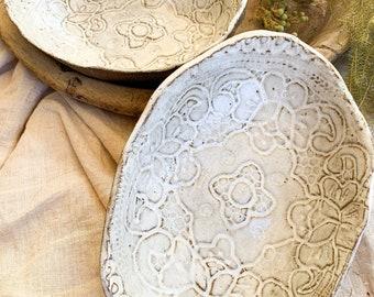 Handmade Ceramic Clay serving bowl
