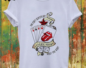c4f6d6634 Rolling Stones card, The Rolling Stones, The Rolling Stones Band, Band T  Shirt, The Rolling Stones Tshirt, Unisex Adult Clothing, Streetwear