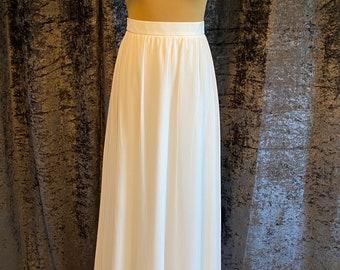 Beautiful Bridal Skirt, High Quality Chiffon Wedding Dress Skirt, Satin Lined, Small Train, Ivory Chiffon Skirt, UK Sizes 10 - 20