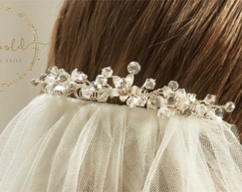 Beautiful Wedding Veil Clip - Sophie, pearl & crystal Veil Clip, Veil Accessories, bridal accessories, veil embellishment
