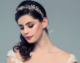 Beautiful Romantic Hair Vine, Headpeice Wedding Hair Accessories, Available in Silver or Rose Gold, Bridal Accessories, Bridal