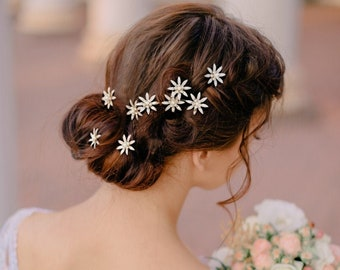 Crystal Bejewelled Hair Pins, Wedding Hair Accessories, Available in Silver or Gold,  Bridal Accessories, Bridesmaid, Bride, Hair Pin