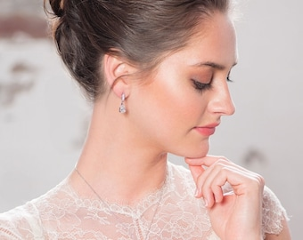 Classic Sparkle Earrings, Available in Gold,  Silver or Rose Gold, Bridal Jewellery Accessories