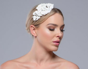 Beautiful Floral Amelie Headband, Bridal Accessories, Bridesmaid Hair, Bridal Headband