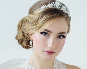 Stunning Exquisite Treasure Bridal Tiara, Wedding Tiara, Bridal Accessories, 14k Gold or Silver Tiara, Brides, Bridesmaid, Adelina