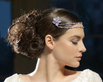 Beautiful Luxury Gatsby Style Headpiece, Bridal Accessories, Bridesmaid Hair, Bridal Headpiece, 1920's