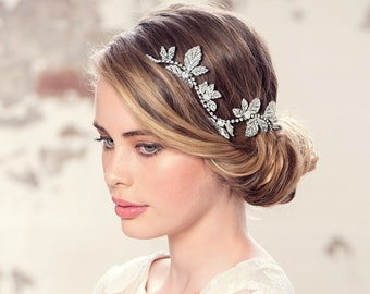 Opulence Wedding Hair Vine, Elite Hair Vine, Wedding Hair Accessories, Available in Gold or Silver,  Bridal Accessories, Bridal