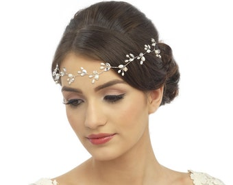 Chic Freshwater Pearl Hair Vine, Wedding Hair Accessories, Available in Rose Gold or Silver,  Bridal Accessories, Bridal