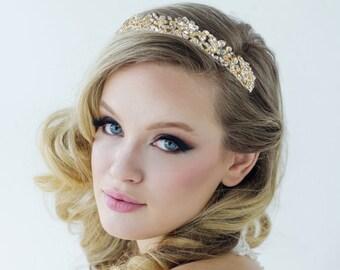 Stunning Luxe Bridal Tiara, Wedding Tiara, Bridal Accessories, 14k Gold or Silver Tiara, Brides, Bridesmaid, Corinne