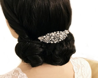 Bridal Hair Comb, Charming Hair Comb, Silver, Rose Gold or Gold, Bridal Accessories, Bridesmaid Hair Combs, Wedding Hair
