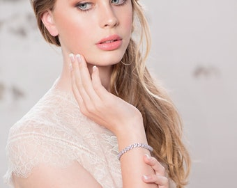 Gorgeous Crystallure Bracelet, Available in Silver, Rose Gold or Gold, Bridal Accessories, Wedding Jewellery, Bridesmaid Gifts