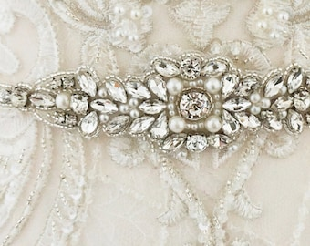 Beautiful Bridal Belt, Vintage Pearl Belt Wedding Dress Belt,