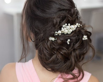 Beautiful Chic Hair Pins Set, Wedding Hair Accessories, Available in Gold or Silver, Bridal Accessories, Bridesmaid, Bride, Hair Accessories