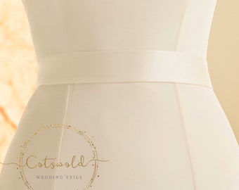Beautiful Bridal Belt, Plain Satin Belt, Wedding Dress Belt, Ivory