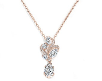 Bejewelled Crystal Necklace, Available in Silver or Rose Gold, Wedding Jewellery, Bridal Accessories, Vintage Necklace